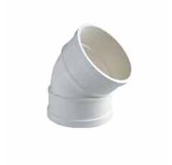 内蒙古建筑排水用硬聚氯乙烯(PVC—U)45°弯头