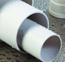 Polyvinyl chloride (PVC 1 U) rigid flame retardant insulating electrical bushing for building