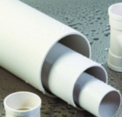 Polyvinyl chloride (PVC 1 U) pipes for drainage